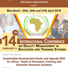 CIMQUSEF'14: Sustainable Development Goals and Agenda 2063 for Africa - Roles of Education, Training and Scientific Research Systems