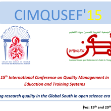 CIMQUSEF15: Improving research quality in the Global South in open science era